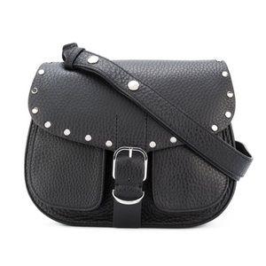 Rebecca Minkoff Biker Saddle Crossbody Bag Black